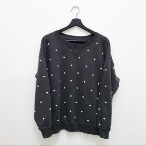 Abercrombie & Fitch Hearts Sweatshirt - Like New!